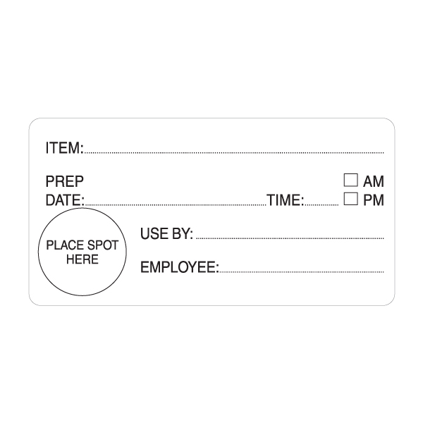 EasiRemovable Shelf Life Label - 98mm x 50mm - White Removable - Roll 500